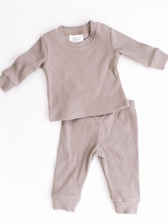 Mebie Baby Ribbed Two-Piece Cozy Set