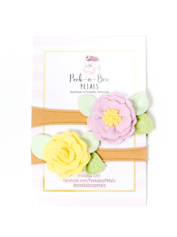 Peek-a-Boo Petals Spring Fling Headband Set