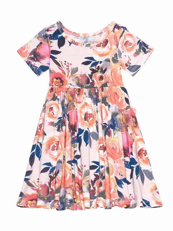Posh Peanut Dusk Rose Twirl Dress