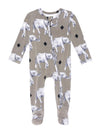 Posh Peanut Rocco Elephant Footie Zippered One Piece