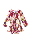 Posh Peanut Gracie Floral Long Sleeve Twirl Skirt Bodysuit