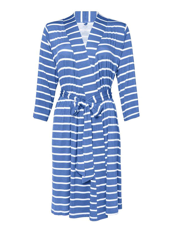 Posh Peanut Denim Blue Stripe Robe