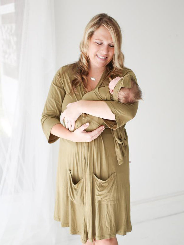 Posh Peanut Olive Infant Swaddle