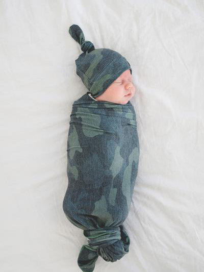 Copper Pearl Hunter Swaddle Blanket