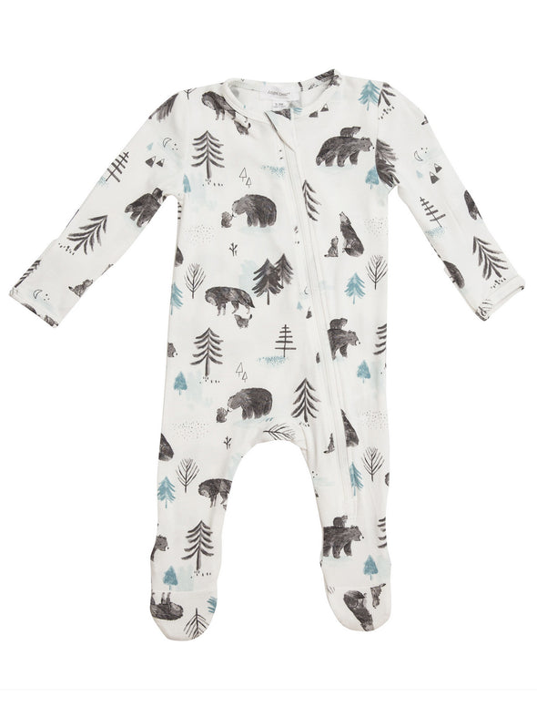 Mama & Cubs Zipper Footie