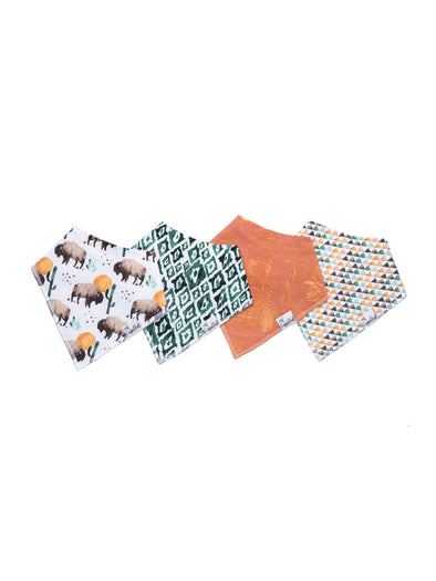 Copper Pearl Bison Bandana Bib Set