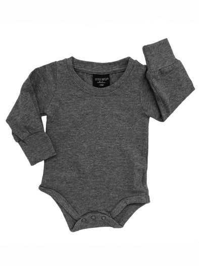Little Bipsy Long Sleeve One Piece - Charcoal