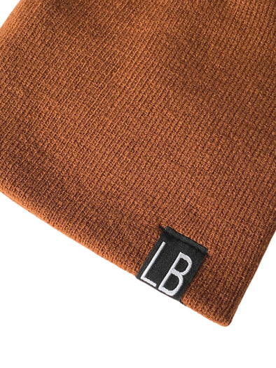 Little Bipsy Knit Beanie - Rust