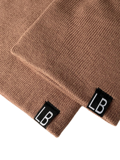 Little Bipsy Knit Beanie - Nude Blush