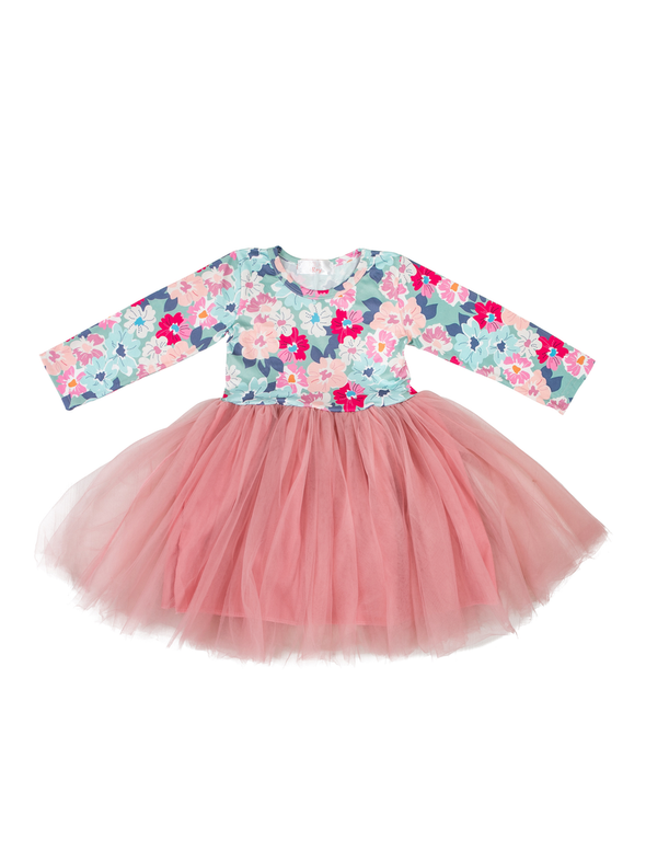 Mila & Rose Vintage Bouquet Tutu Dress