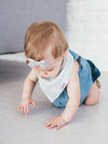 Copper Pearl Gray Basics Bandana Bibs