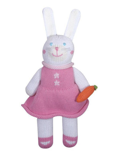 "Zubels  Harriet the Bunny 7"" Knit Rattle Doll"