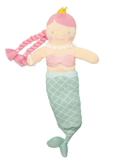 "Zubels Marina the Mermaid 7"" Knit Rattle Doll"