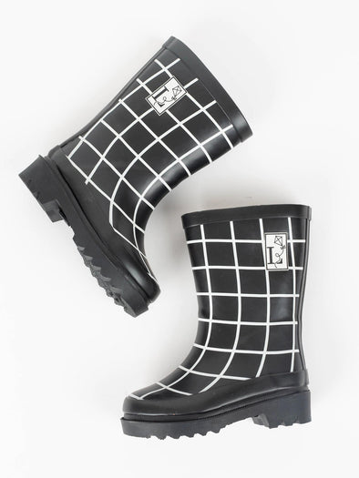London Littles Trafalgar Black Rain Boots