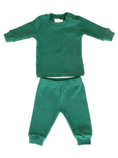 Mebie Baby Forest Holiday Ribbed Two-Piece Set