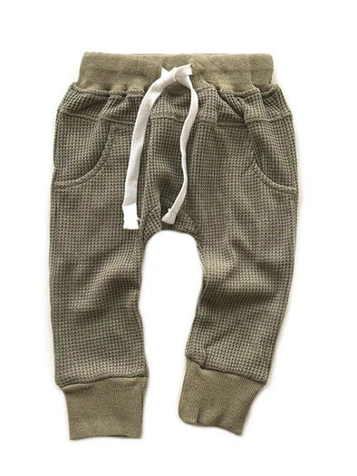 Little Bipsy Thermal Joggers - Pine