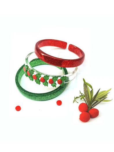 Mistletoe Bracelets (set of 3)
