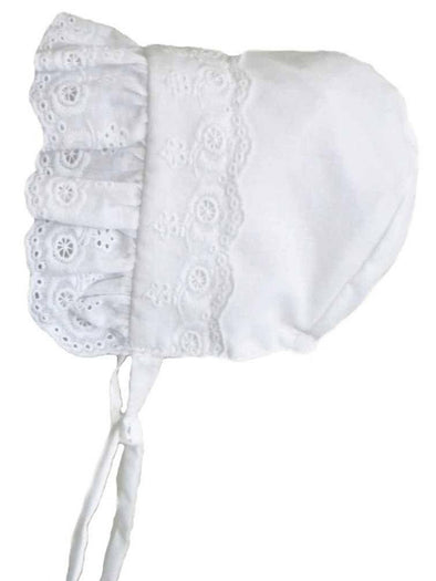 Flower Eyelet Bonnet