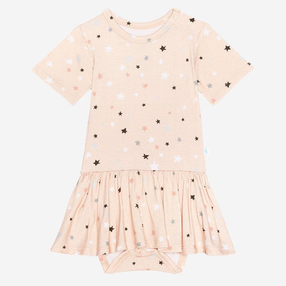 Posh Peanut Star Short Sleeve Twirl Skirt Bodysuit