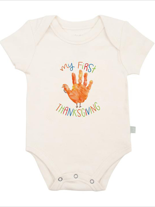 Finn + Emma First Thanksgiving Hand Graphic Bodysuit