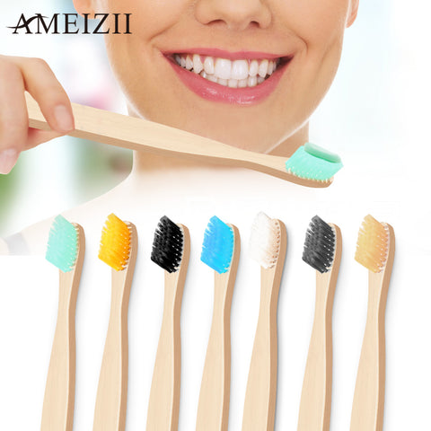 Colorful Natural Bamboo Handle Toothbrush