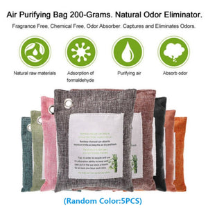 Bamboo Charcoal 5 Packs Air Purifying Bags