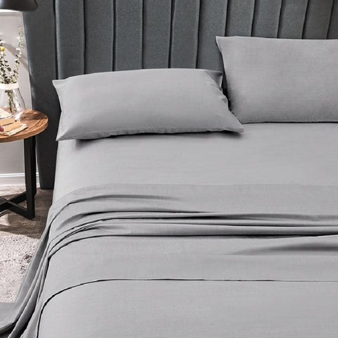 Bamboo Charcoal Fiber Bedsheet & Pillowcase Sets