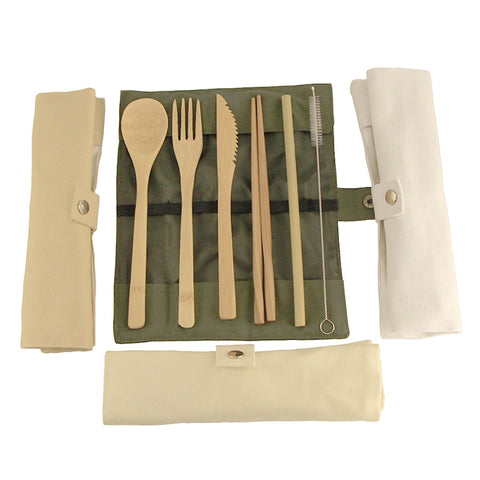 Creative Bamboo Dinnerware Set and Chopsticks