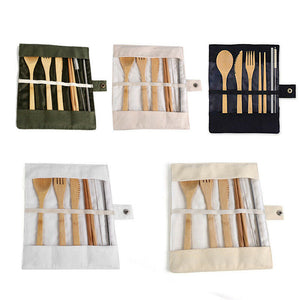Eco-Friendly Bamboo Portable Cutlery Set