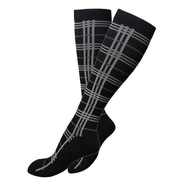 Bamboo Men's and Women's Compression Running Socks