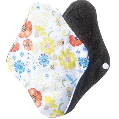 Washable Bamboo Charcoal Menstrual Pads