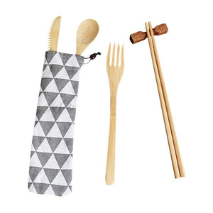 New Japanese Bamboo Cutlery Set