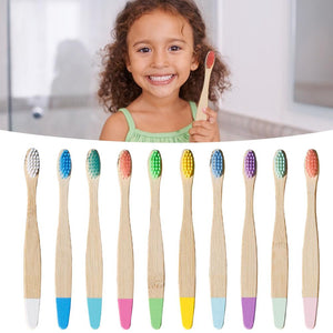 10PC Natural Bamboo Toothbrush Eco-friendly Low-carbon Travel Tooth Brush Soft Bristle For Children Toothbrush Oral Care