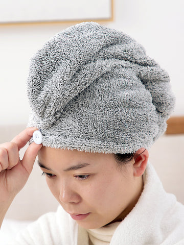 Bamboo Fiber Absorbent Hair Dryer Cap