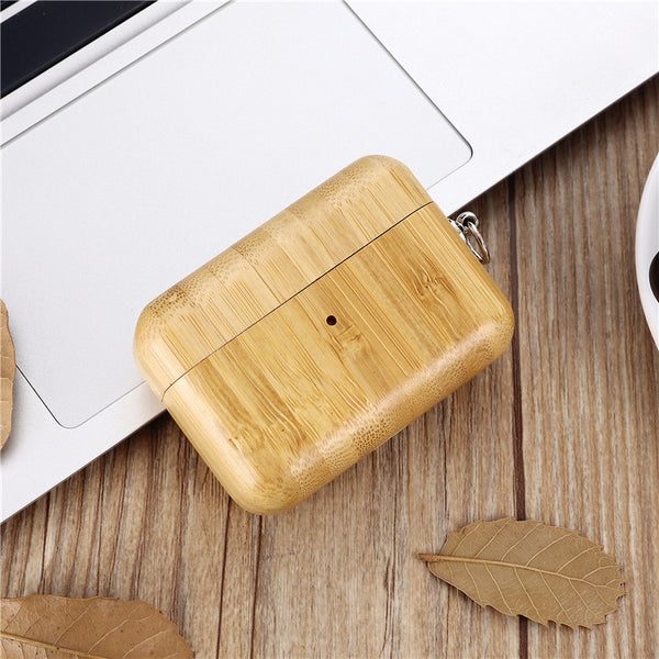 Bamboo Shockproof Bluetooth Earbuds Covers For Airpods