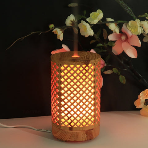 Aromatherapy 100ML Bamboo Air Humidifier Essential Oil Diffuser