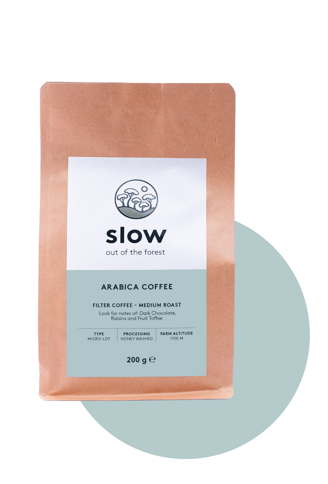 Slow Medium Roast 200g (Whole Bean)
