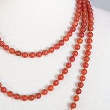 Load image into Gallery viewer, RED ONYX BEADS LONG