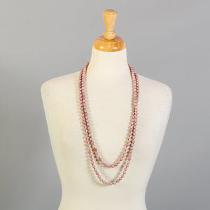 RHODONITE BEADS LONG