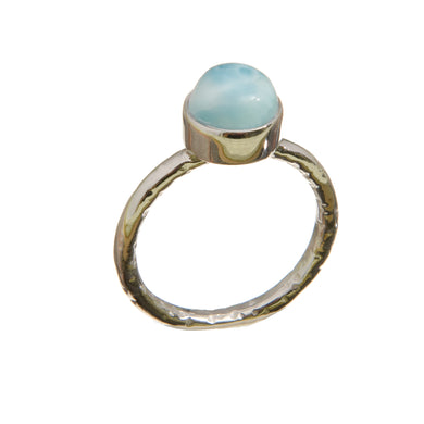 Larimar Stacking Ring in Sterling Silver