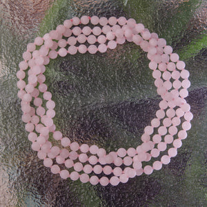 ROSE QUARTZ BEADS LONG