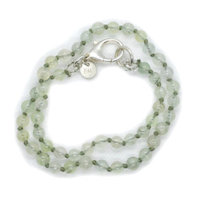 PREHNITE BEADS SHORT