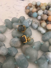 Load image into Gallery viewer, LABRADORITE STUDS
