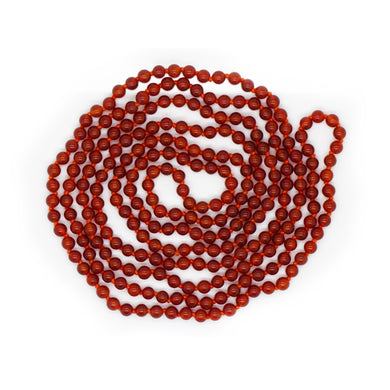 RED ONYX BEADS LONG