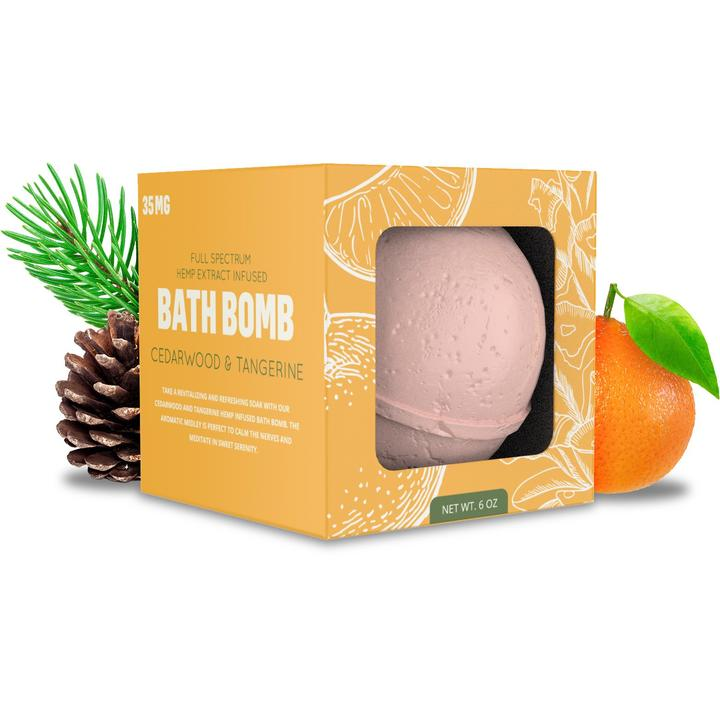 35mg Bath Bomb - Cedarwood Tangerine