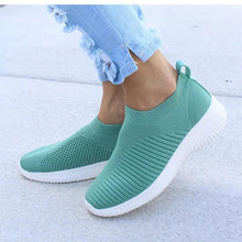 Load image into Gallery viewer, Women Sandals Knitting Sock Sneakers Women 2019 Spring Summer Slip On Flat Shoes Woman Plus Size Casual Sandals Loafers SH041602