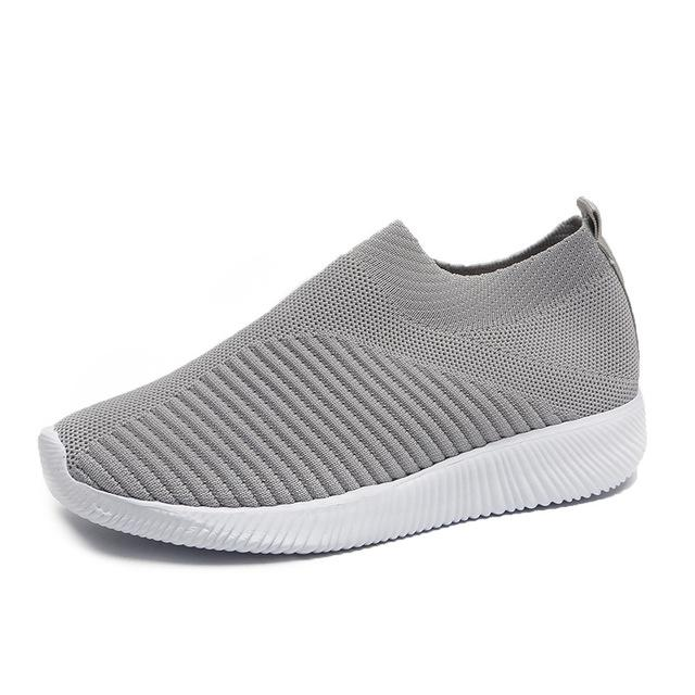 Women Sandals Knitting Sock Sneakers Women 2019 Spring Summer Slip On Flat Shoes Woman Plus Size Casual Sandals Loafers SH041602