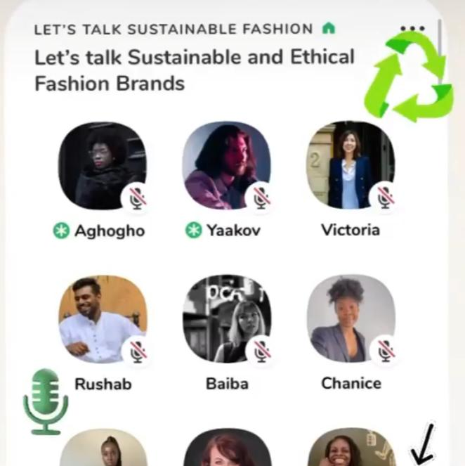 ClubHouse discussion on Sustainable Fashion