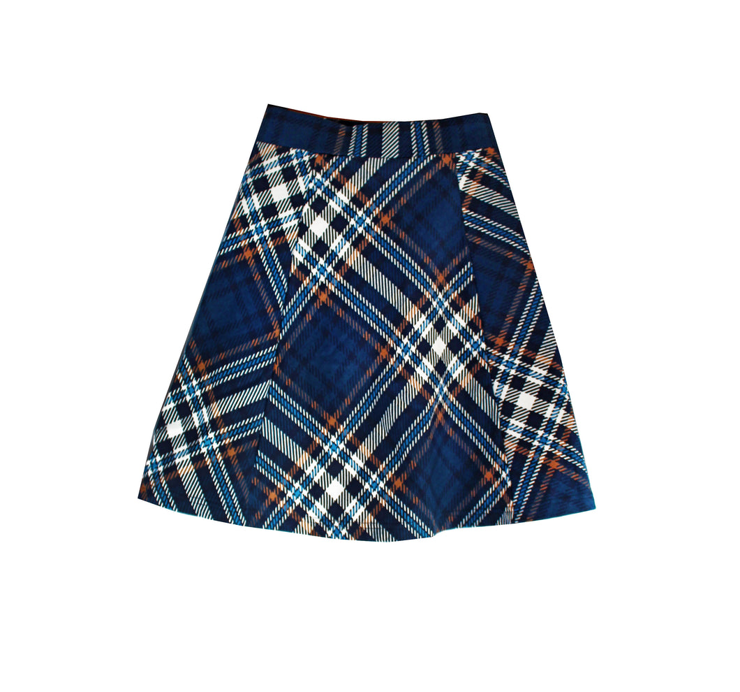 Panel Printed A-Line Skirt - OTedd