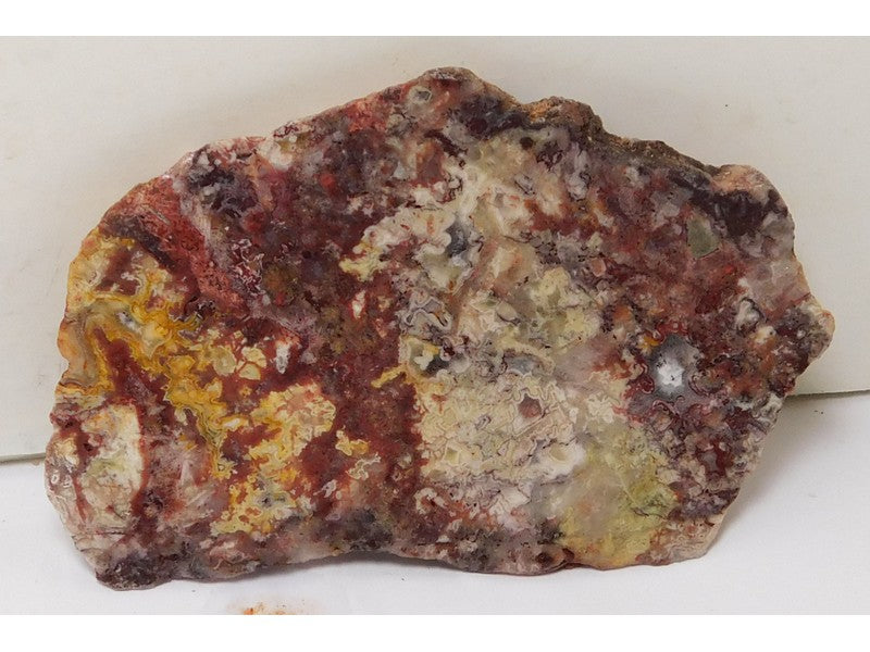 "Crazy Lace Agate Lapidary Slabs 4"" x 2.5"" x 0.26"" - AGATSLAB2452"